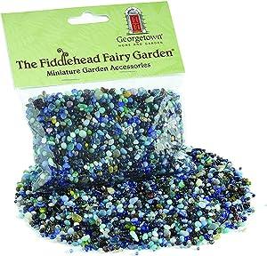Fiddlehead Fairy Garden 8.5 Ounce Bag of Rocks for Mini Gardens (Blue)