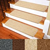 Carpet Stair Treads - Non-Slip Bullnose Carpet for Stairs - Indoor Stair Pads - Self-Adhesive & Easy Installation - Pet…