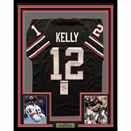 half off 29a88 bfcfb Framed Autographed/Signed Jim Kelly 33x42 Houston Gamblers ...