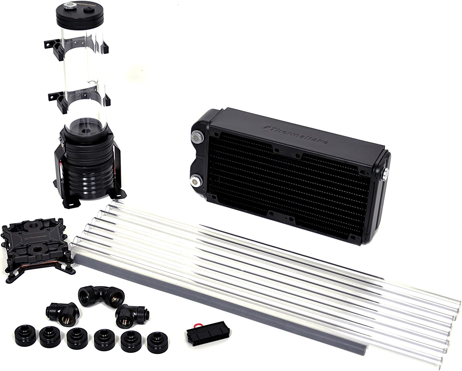 Thermaltake Pacific Reef 240 Performer D5 Res/Pump PETG Hard Tube Water Cooling Starter Kit CL-W119-CA12RE-A