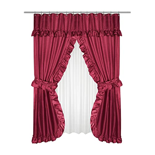 Burgundy Swag Curtains: Amazon.com