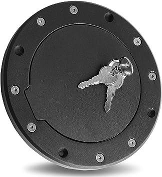 Black Bolt-On Gas Fuel Tank Door Cover Cap For Jeep Wrangler 97-06 TJ Key Lock