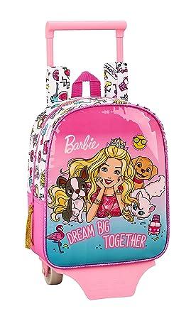 Barbie Celebration Oficial Mochila Guardería Con Carro Safta, 220x100x270mm: Amazon.es: Ropa y accesorios