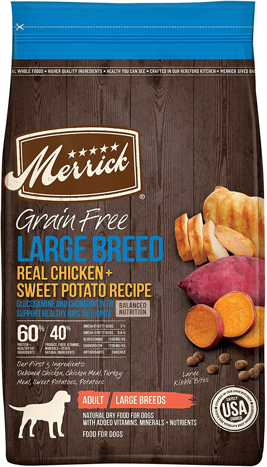 Merrick Large Breed Dry Dog Food with Real Meat
