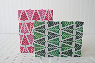 product image for Modern Christmas Trees/Tannenbaum (6 Sheets) - Eco-Friendly Wrapping Paper - Reversible - Gift Wrap by Wrappily …