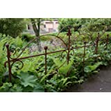 Beetzaun Gartenzaun Rankhilfe Metall Eisen Rost Schmetterling 46cm hoch x 60cm lang
