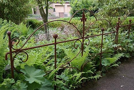 Steccato Estensibile Giardino : Recinzione per aiuole staccionata da giardino traliccio metallo