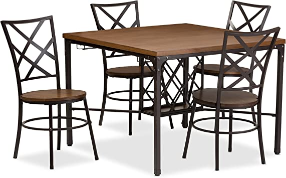 Amazon Com Baxton Studio Vintner Dining Set Table Chair Sets
