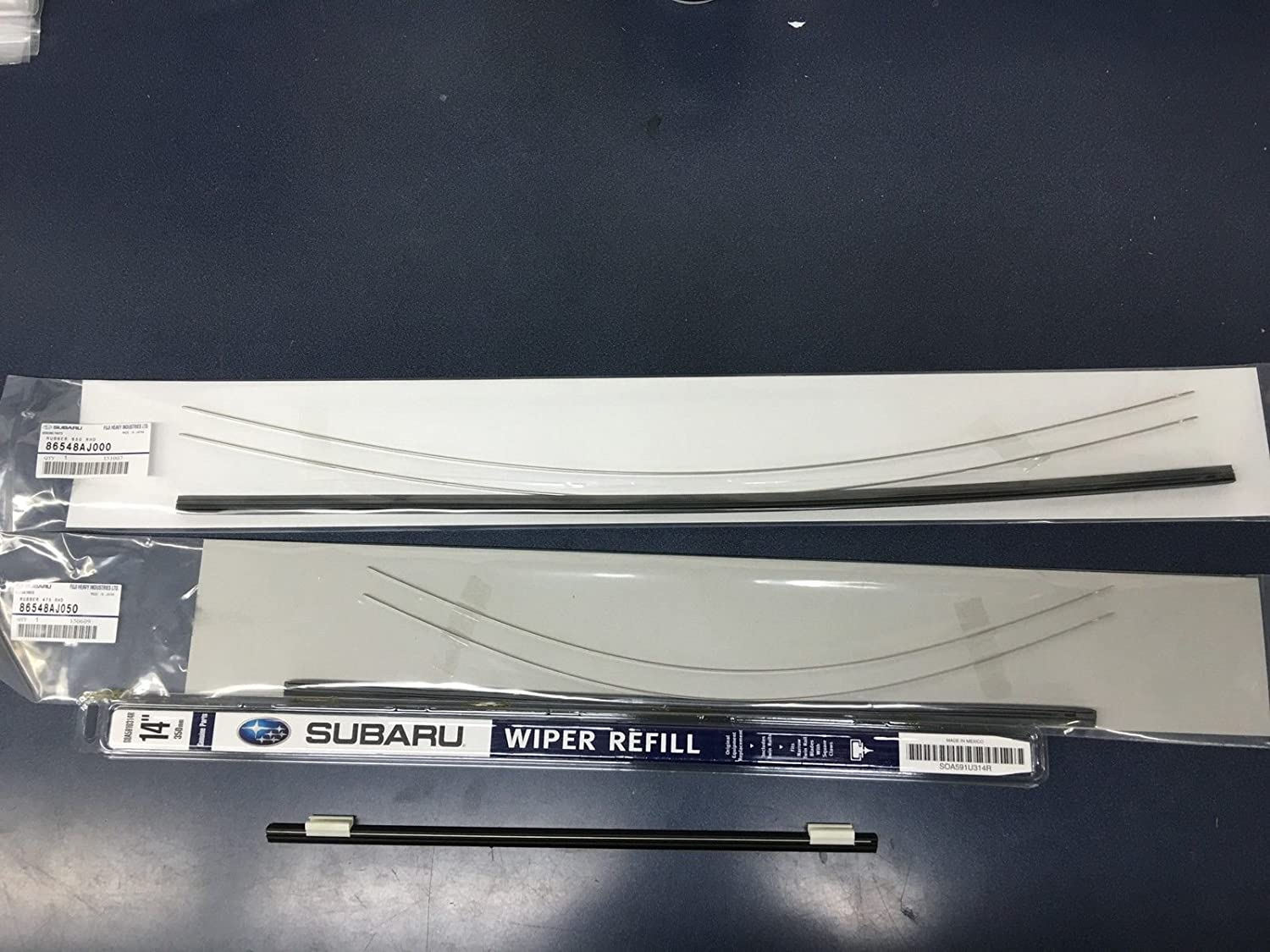 2010-2014 Subaru Outback Legacy Front & Rear Windshield Wiper Blade Refill Set