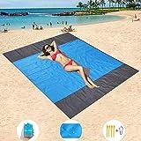 "Mumu Sugar Sand Free Beach Mat Oversized 82"" X79"" Sand Proof Beach Blanket Outdoor Picnic Mat for Travel, Camping…"