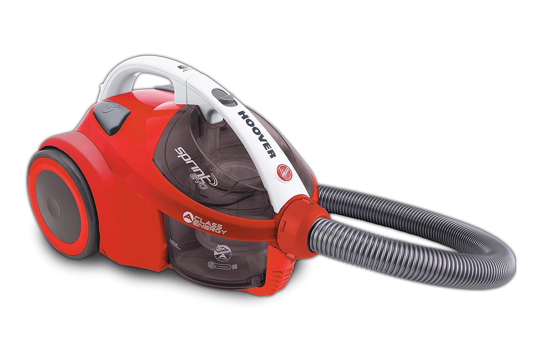 Hoover Sprint EVO SE51 - Aspirador trineo sin bolsa con filtro EPA, ideal parquet, 700W, capacidad 1.5L, nivel de ruido 80dBA, color rojo