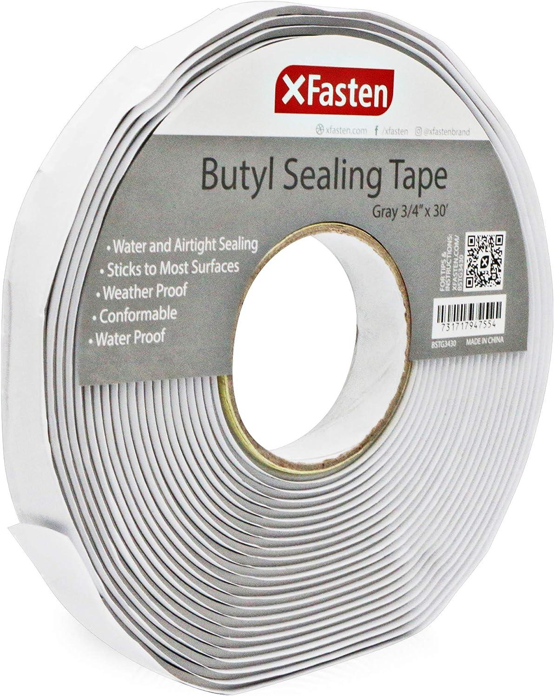 Leak Proof Put... 1//8-Inch x 3//4-Inch x 30-Foot XFasten Butyl Seal Tape White