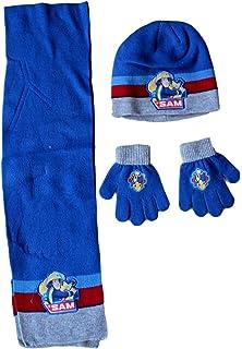 Fireman Sam ensemble bonnet gants écharpe sam le pompier-bleu gris  rouge-garçon c19a4aa49ac
