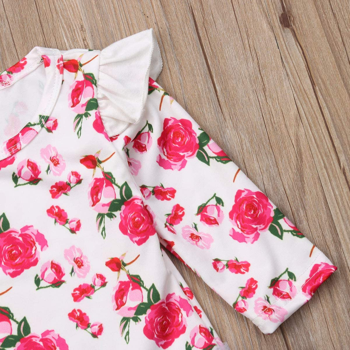 Baby Girl Clothes Floral Rose Long Sleeve Romper Bodysuits Tops Tutu Lace Skirts Outfits Set Baby Party Clothes
