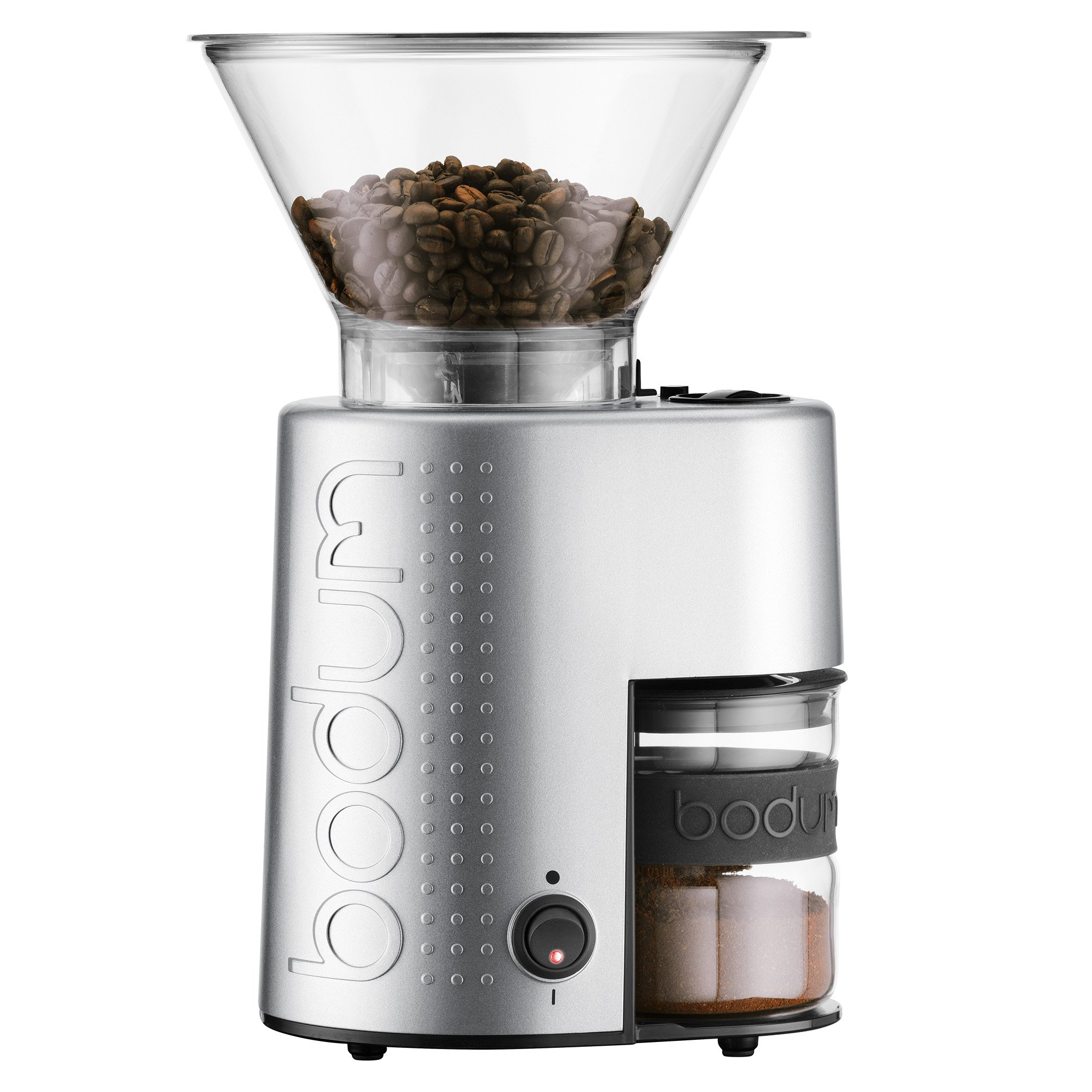 Bodum 10903-70US-1 Bistro Electric Burr Coffee Grinder, Aluminum, Chrome