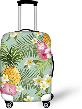 Travel Suitcase Protector Zipper Luggage Cover Washable Print Suitcase Baggage Cover African Elephant Mandala Vintage Fits 18 To 32 Inch