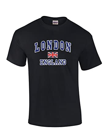 35a49ca7fd7a Fruit of the Loom Men London England with Union Jack Souvenir Printed T- Shirt: Amazon.co.uk: Clothing