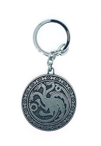 Gemelolandia Llavero Juego de Tronos Casa Targaryen Rounded ...