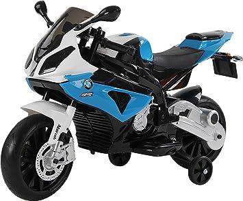 RunRunToys Moto BMW eléctrica 12v con con Luces led para niños a Partir de 3 años