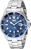 Invicta Men's Pro Diver Quartz Watch with Stainless Steel Strap, Silver, 22 (Model: 30019)