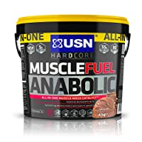 USN Muscle Fuel Anabolic Muscle Gain Shake Powder, Chocolate, 4 kg