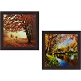 Wens 'Autumn View' Wall Hanging Painting (MDF, 35 cm x 71 cm x 2.5 cm)