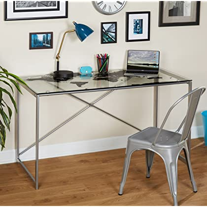 Amazon cambodia shopping on amazon ship to cambodia ship overseas silver target marketing systems world map desk with a clear tempered glass top silver gumiabroncs Choice Image