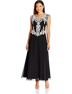J Kara Womens Short Sleeve Long All Over Beaded Dress Petite At