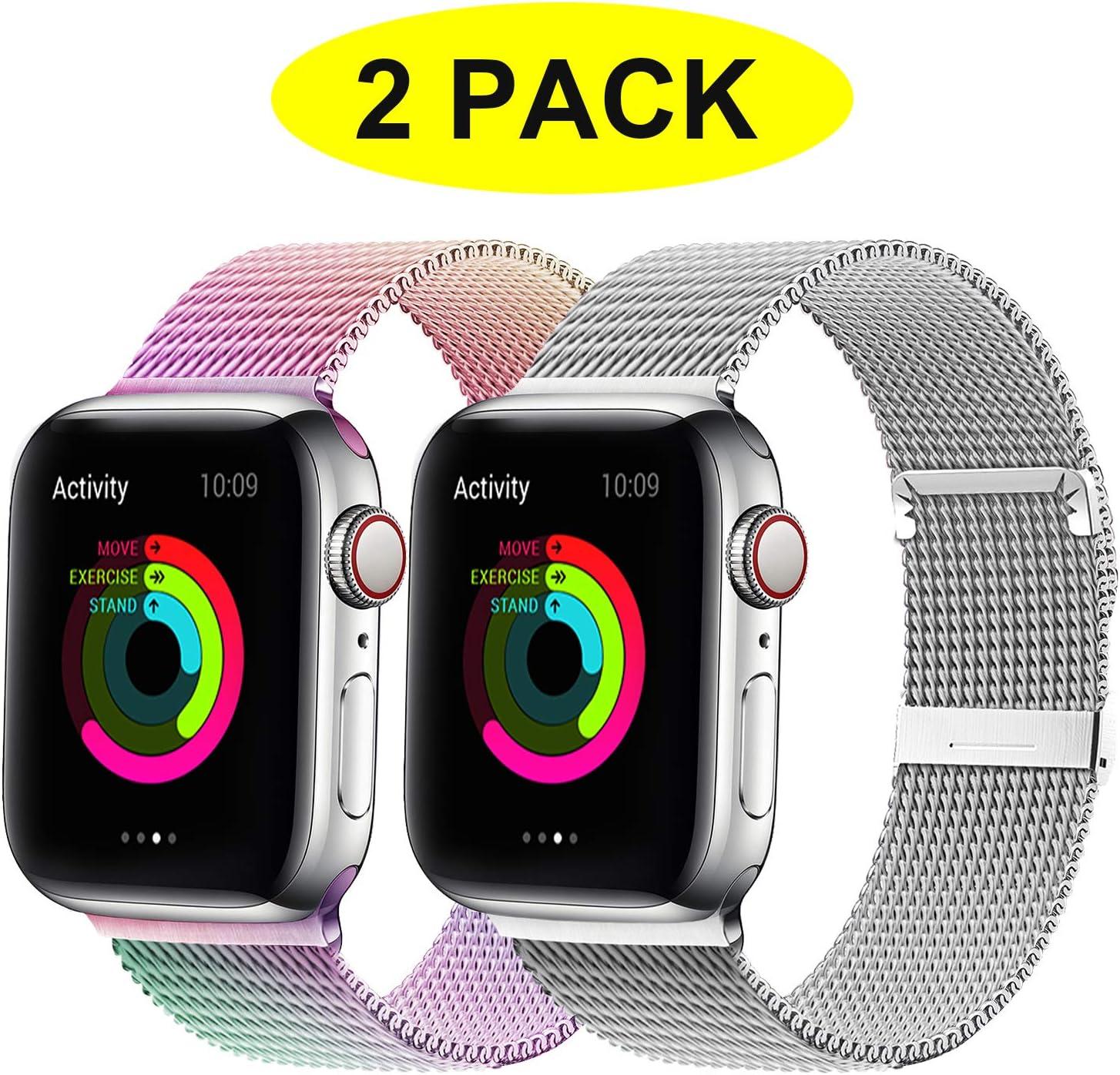 Malla Para Apple Watch Series 1 2 3 4 5  (pack de 2)  (46G9)