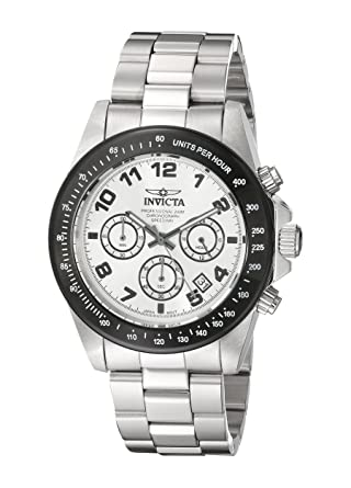 Invicta Mens 10702 Speedway Chronograph Silver Dial Stainless Steel Watch