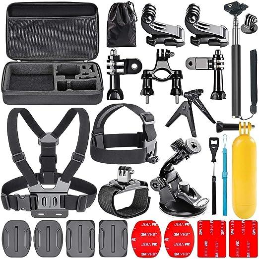 Navitech 18 in 1 Action Kamera Zubehör Combo Kit mit Eva Case für die GoXtreme Black Hawk+ 4K Action Camera
