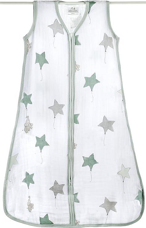 Aden + Anais up, up & away - Saco de dormir de verano para bebés (talla S-XL, muselina de algodón) talla XL Talla:XL: Amazon.es: Bebé