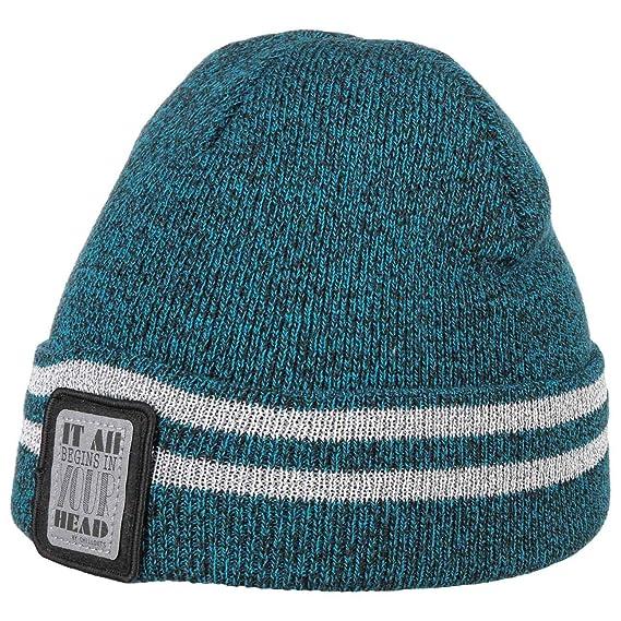 b24e857354d1 Chillouts Bonnet Reflechissant Enfant Lukas en Tricot pour l hiver (Taille  Unique - Bleu