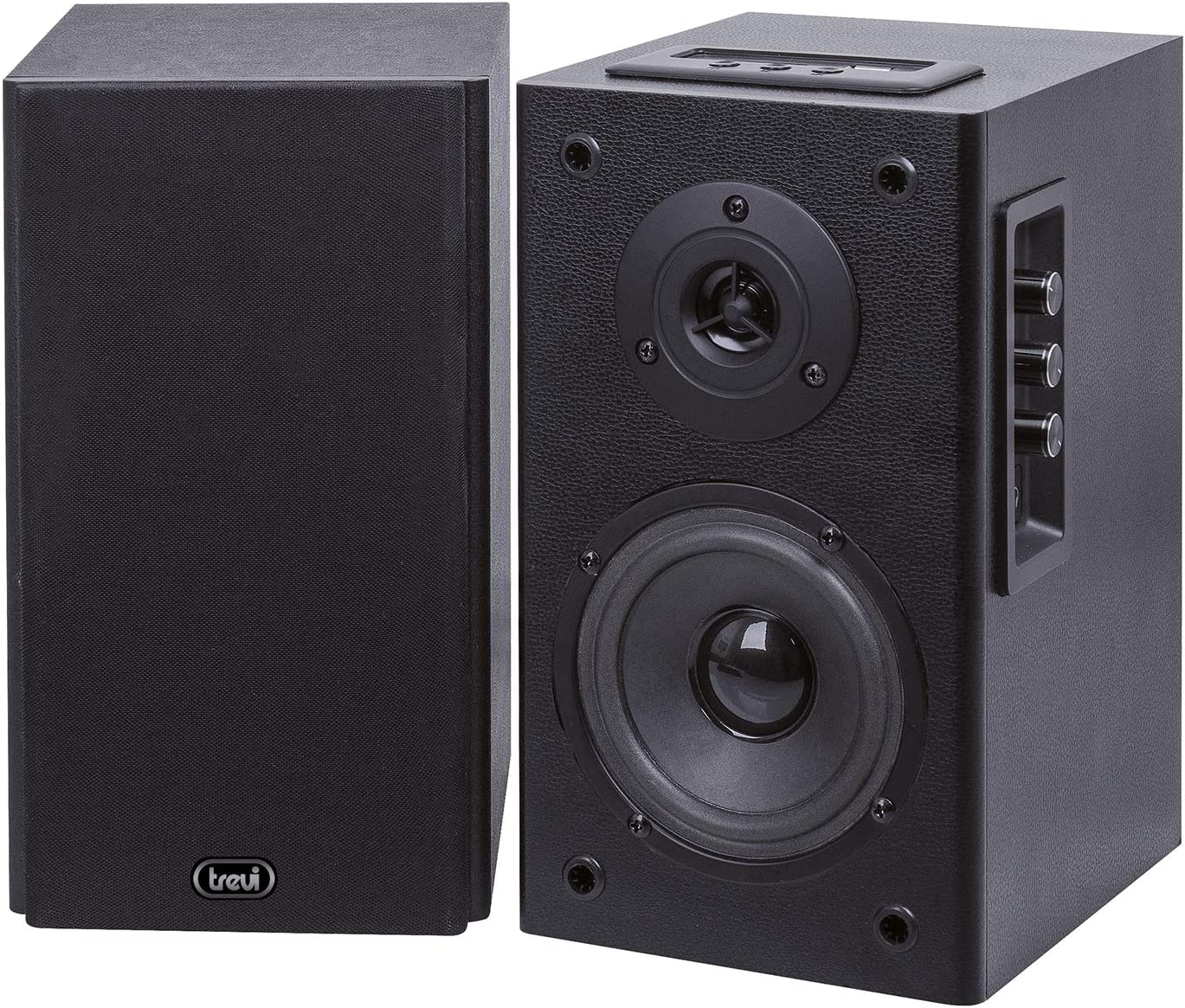 Trevi AVX 530 BT Negro Altavoz - Altavoces (De 2 vías, Inalámbrico, Bluetooth/USB/RCA/3.5mm, Negro)