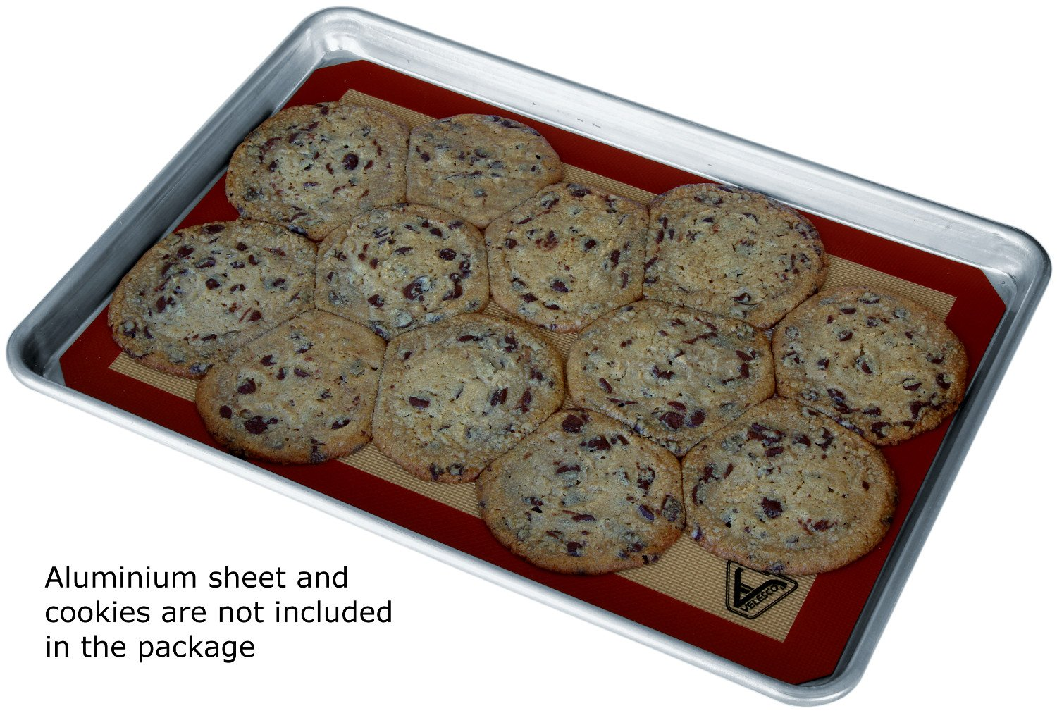 Silicone Baking Mat - Set of 3 Half Sheet (Thick & Large 11 5/8'' x 16 1/2'') - Non Stick Silicon Liner for Bake Pans & Rolling - Macaron/Pastry/Cookie/Bun/Bread Making - Professional Grade Nonstick by Velesco (Image #9)