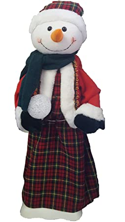 Ben Jonah Let it Snow Collection 2 Foot Tall Festive Christmas Holiday Figurines – Animated and Illuminated – Frosty Scottish with Kilt
