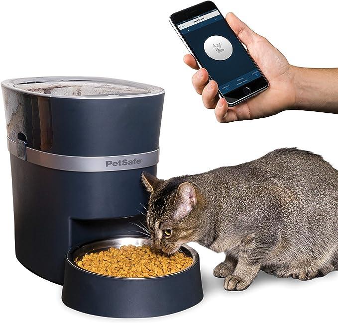 cat Feeder Automatic pet Feeder HD Camera Two Way Audio Dog Feeder scheduled Feeding Night Vision 5L WiFi Enabled Feeder INSTACHEW Smart Pet Feeder Gen 2