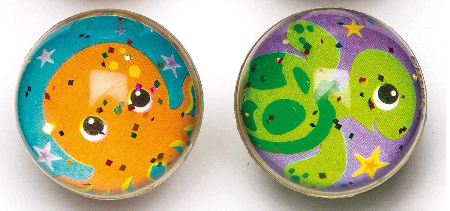 Perfect for Children to Play with Alone or with Friends Assorted Baker Ross AR590 Sealife Glitter Jet Balls Pack of 8 Ideal for Outdoor or Indoor Use