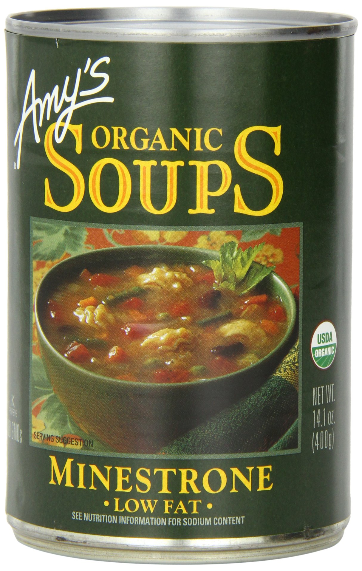 Amy's Organic Soups, Low Fat Minestrone, 14.1 Ounce (Pack of 12)