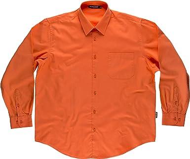 Camisa B8000, color naranja, manga larga, T-48: Amazon.es: Ropa y accesorios