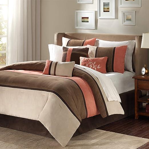 Amazon.com: Madison Park Palisades 7 Piece Comforter Set Size