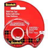 Scotch MultiTask Tape, Doesn't Yellow, Engineered for Office and Home Use, Versatile, Glossy Finish, 3/4 x 650 Inches (25)