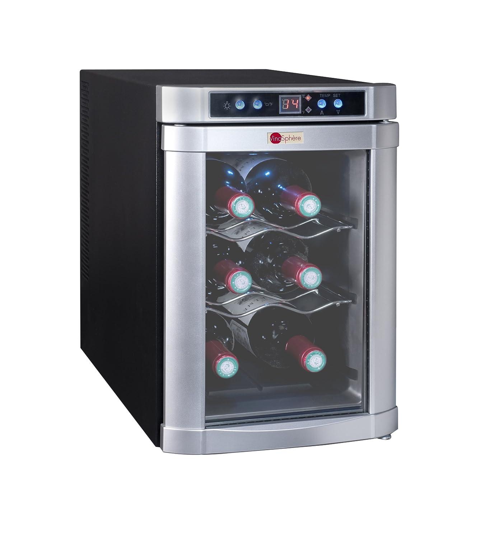 La Sommelière VN6B Weinkühlschrank / 41, 0 cm Höhe/Weintemperierschrank für Service/Digital-Anzeige der Temperatur/silber [Energieklasse F] fr_B004BLMI86