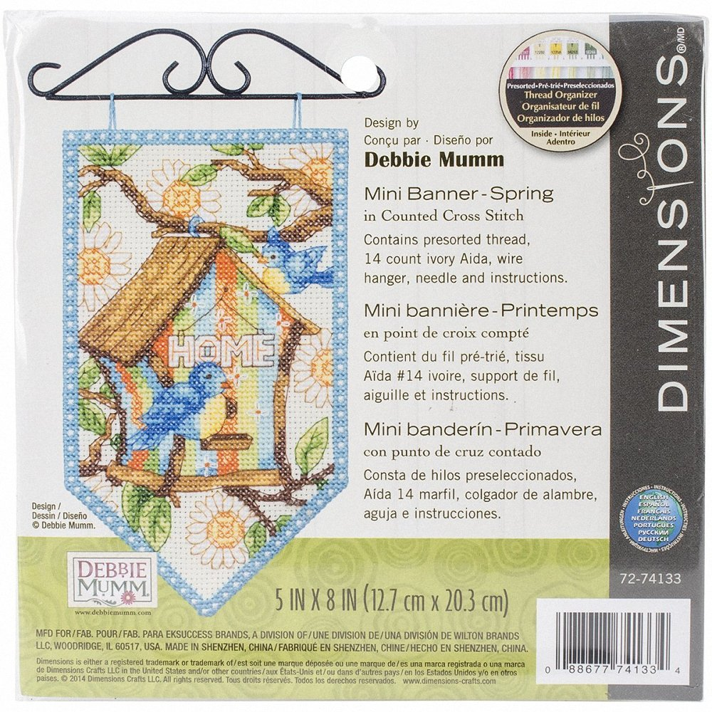 Winter // Christmas Banner Cross Stitch Kit Dimensions D72-74136