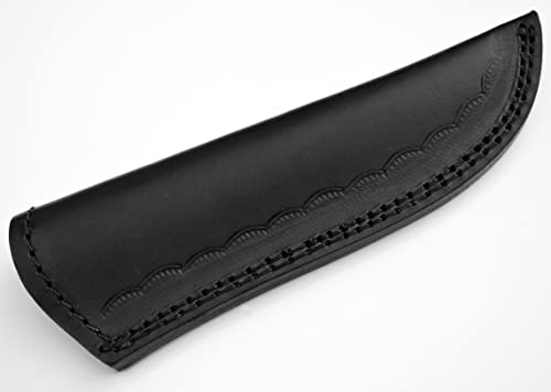 Whole Earth Supply Large Black Leather Sheath for Fixed Blade Knife Fits up to 6in Blade Knives Hunting Skinning Blanks