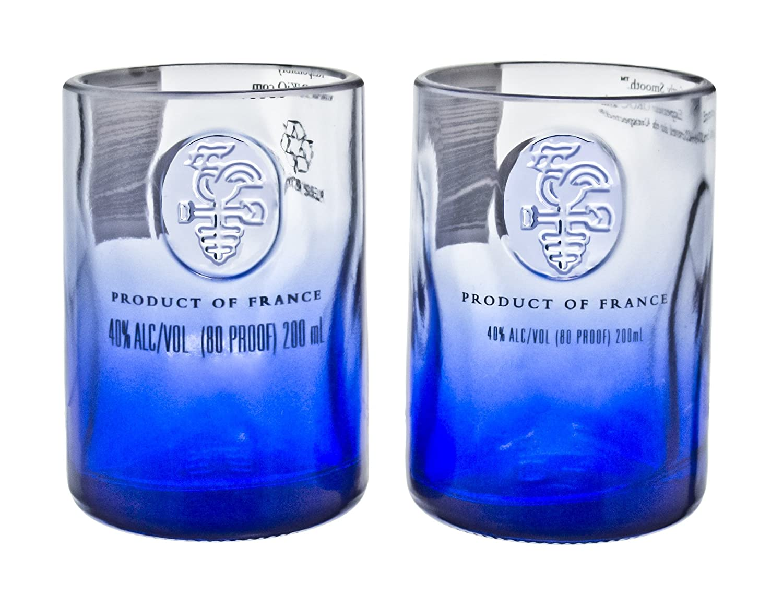 Amazon.com | Ciroc Premium Vodka Reclaimed Bottles Glassware Barware Drinkware Shot Glass Gift Set: Old Fashioned Glasses