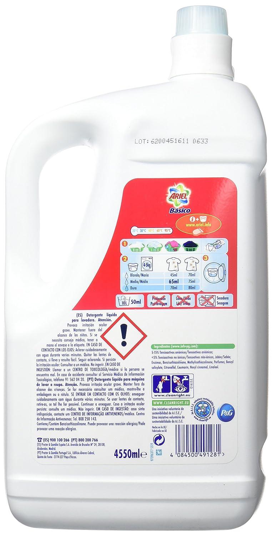 Ariel Basico Detergente Líquido - 70 Dosis: Amazon.es ...