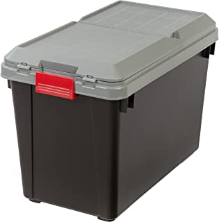 IRIS 25.5 Gallon Store-it-All Heavy Duty Stackable Utility Tote Black with  sc 1 st  Amazon.com & Amazon.com - IRIS 82 Quart Weathertight Store-It-All Tote 4-Pack ...