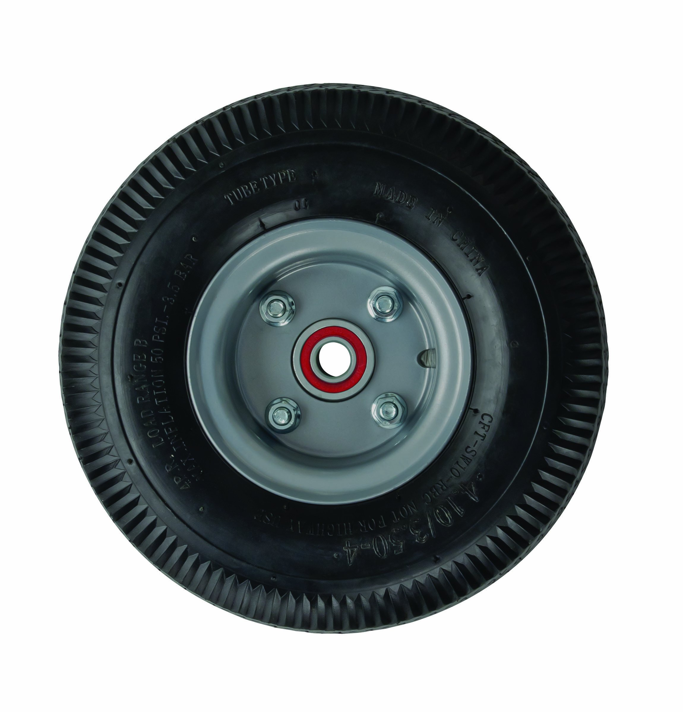 Magline 101020 10'' Diameter Foam Filled Pneumatic Wheel with Semi Precision Bearing