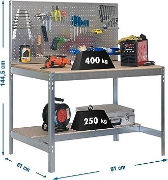 Simonrack 778100045159062 Banco de trabajo (1440 x 900 x 600 mm, 2 ...